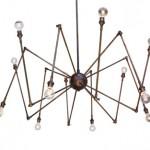Bakır renginde örümcek ayaklı modern tavan lambası