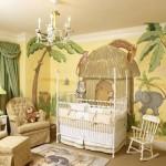 Doğa temalı bebek odası dekorasyonu