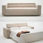 Bej renkli modern açılabilir kanape modeli