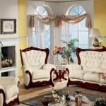 Beyaz renkli klasik model italyan tasarım koltuk takımları
