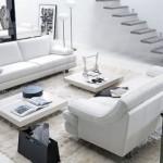 Beyaz takımlarla ferah salon tasarımı