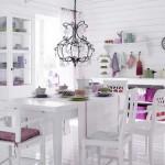 Beyaz yemek odası takımı
