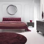 Bordo renklerle italyan yatak odası tasarımı