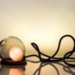 Cam ve dantelli bellek kablo masa lambası
