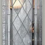 Dekoratif baklava şeklinde cam kapı modeli