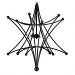 Dekoratif siyah renkli avize tasarımı