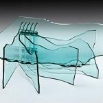 Dekoratif ve şık cam sehpa modeli