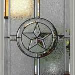 Dekoratif yıldız desenli cam kapı modeli