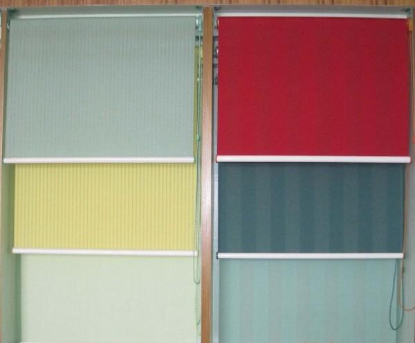 Farklı renklerde stor perdeler