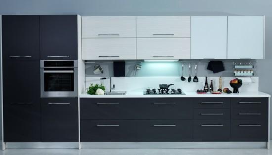 Koyu gri mutfak modelleri