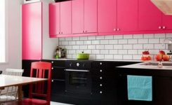 Pembe mutfak dolapları modelleri
