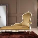 İtalyan tasarım sarı renkli klasik koltuk kanepe modeli