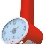 Kırmızı renkli ve saat göstergeli modern davlumbaz modeli