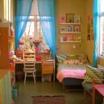 Kız çocukları için modern yatak odası dekorasyonu