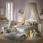 Kız çocukları için yatak odası dekorasyonu