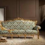 Klasik desenli kumaştan yapılmış italyan tasarım kanepe modeli