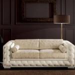 Klasik italyan tasarım desenli beyaz kanepe modeli