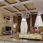 Klasik salon dekorasyon örneği