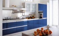 Mavi Mutfak Dolapları Modelleri