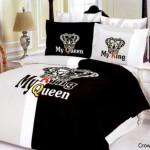 Kral ve kraliçe olarak ifade edilen eşler için farklı nevresim takımı