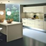 Krem renkleri ile modern italyan tasarım mutfak dekorasyonu
