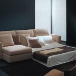 Krem renkli modern çekyat kanape modeli
