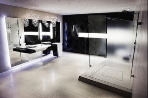 lüks siyah beyaz banyo tasarımı