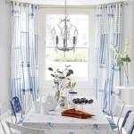 Mavi beyaz yemek odası takımı