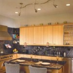 Metalik gri modern mutfak aydınlatıcısı