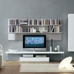 Modern duvar raflı tv unitesi