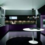 Modern italyan tasarım mor siyah mutfak dekorasyonu