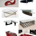 Modern kırmızı renkli cam sehpa modeli ve farklı cam sehpa örnekleri