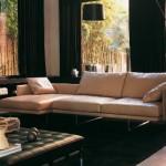 Modern krem renkli çekyatlı kanape modeli