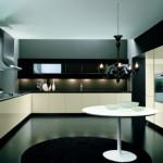 Modern krem renkli siyah italyan tasarım mutfak dekorasyonu