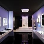 Modern mor renkli banyo dekorasyonu