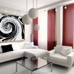 Modern oturma odası dekorasyonu