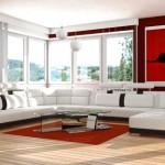 Modern siyah beyaz koltuk modeli ve salon tasarımı