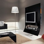 Modern siyah cam tv standı