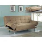 Modern tasarım krem renkli açılabilir kanape modeli