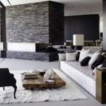 Modern tasarım oturma odası