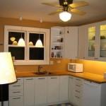Modern tavandan vantilatör lambalı dekoratif mutfak aydınlatıcısı