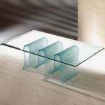 Modern ve değişik cam sehpa modeli