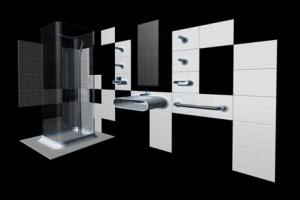 modern ve lüks siyah beyaz banyo