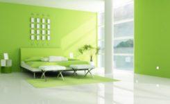 Yeşil Beyaz Yatak Odası Dekorasyonu Örnekleri