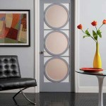 Modern yuvarlak cam kapı modeli